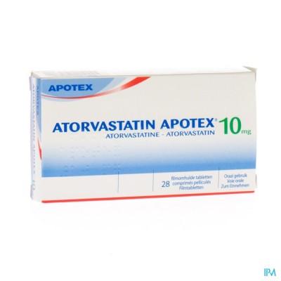 Atorvastatin Apotex 10mg Filmomh Tabl 28 X 10mg