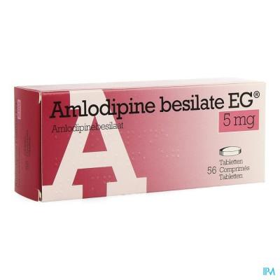 Amlodipine Besilate Eg Comp 56 X 5mg