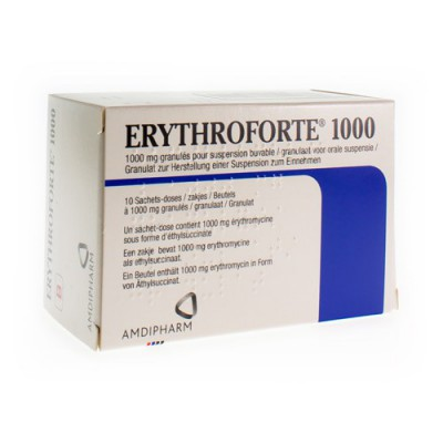 ERYTHROFORTE 1000 PULV 10 X 1 G