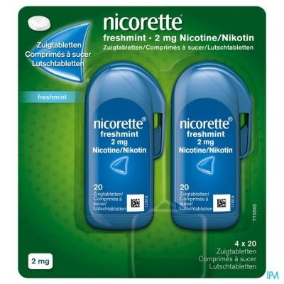 Nicorette Freshmint Zuigtabletten 80x2mg