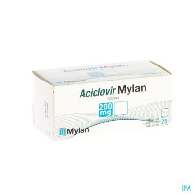 Aciclovir Mylan 200 Comp 25 X 200mg