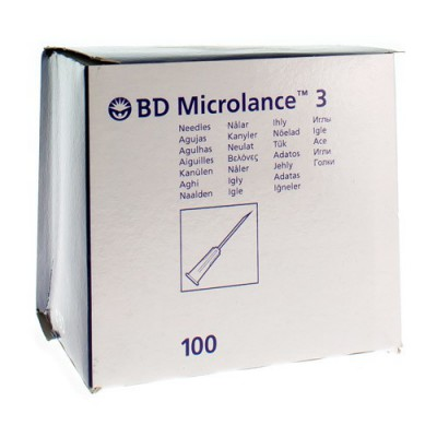 BD MICROLANCE 3 NAALD 18G 1,2X40MM ROSE 100 301900