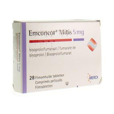 EMCONCOR MITIS 5 DRAG 28X5MG