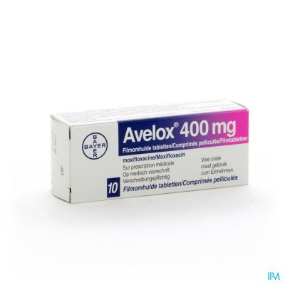 Avelox 400mg Comp Pell 10 X 400mg