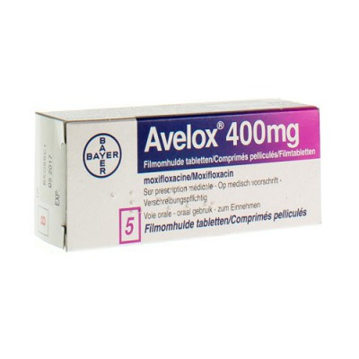AVELOX 400 MG COMP PELL 5 X 400 MG