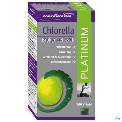 Mannavital Chlorella Platinum V-tabl 240
