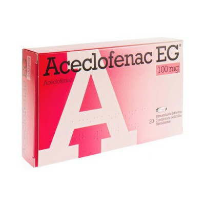 ACECLOFENAC EUROGENERICS 100MG FILM.TABL 20X100MG
