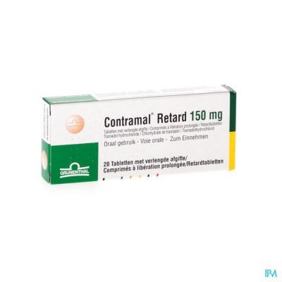 Contramal Retard 150mg Comp 20