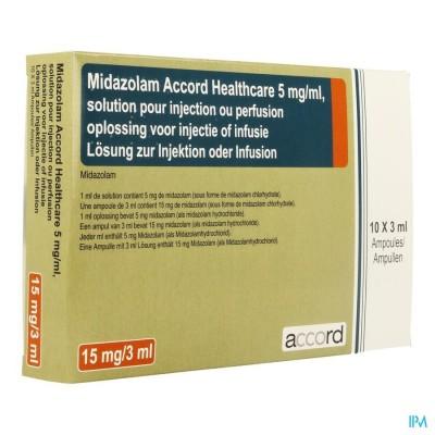 MIDAZOLAM ACCORD 5MG/ML 3ML 10 AMP
