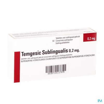 Temgesic Sublingualis Comp 50 X 0,216mg