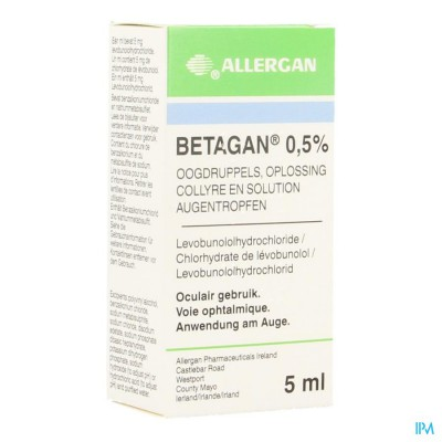 Betagan Collyre 1 X 5ml 0,50%
