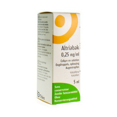 ALTRIABAK 0,25MG/ML OOGDRUPPELS FL 5ML