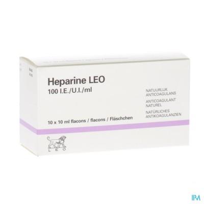 Heparine Leo 100 Ie/ml Fl 10x10ml