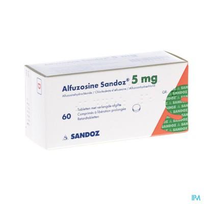 ALFUZOSINE SANDOZ COMP 60 X 5 MG