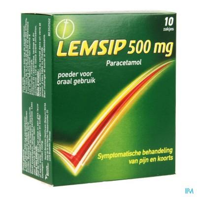 LEMSIP LEMON 500 SACH ZAKJES 10