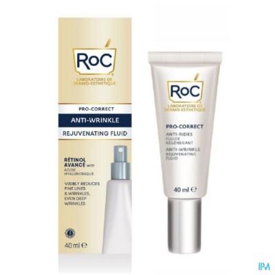Roc Pro Correct A/wrinkle Rejuv. Fluid Fl 40ml
