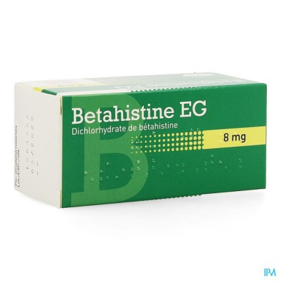 BETAHISTINE EG COMP 100 X 8 MG