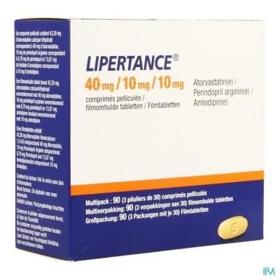 Lipertance 40mg/10mg/10mg Filmomh Tabl 90