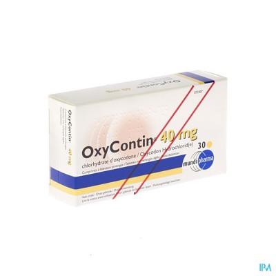Oxycontin Tabl 30 X 40mg