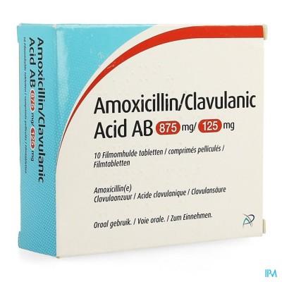 Amoxicillin Clavulanic Acid Ab 875mg/125mg Comp 10
