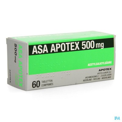 Asa Apotex 500mg Comp 60 X 500mg