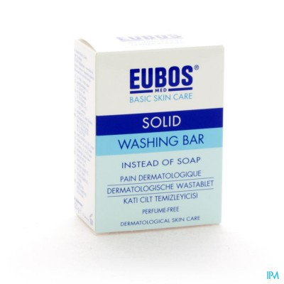 Eubos Compact Wastablet Blauw Z/parf 125g