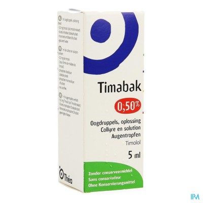 Timabak 0,50% Collyre 5ml 5,0mg/ml