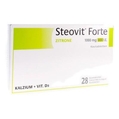 STEOVIT FORTE 1000MG/800IE KAUWTABL 28