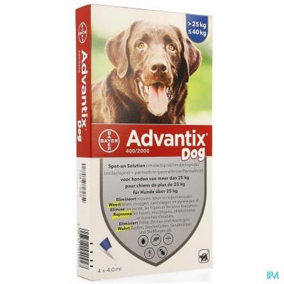 Advantix 400/2000 Honden 25<40kg Fl 4x4,0ml