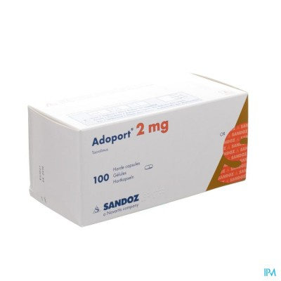 ADOPORT SANDOZ 2,0 MG CAPS HARDE 100 X 2,0 MG