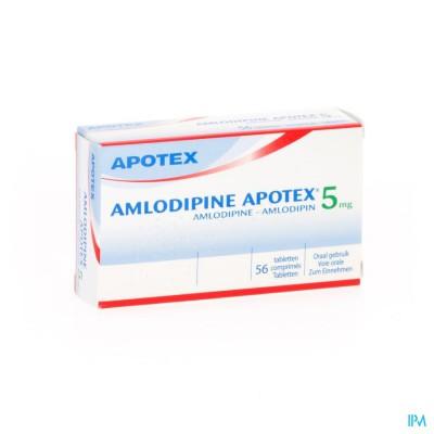 AMLODIPINE APOTEX 5 MG TABL 56