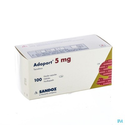 ADOPORT SANDOZ 5,0 MG CAPS HARDE 100 X 5,0 MG