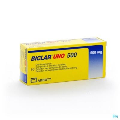 Biclar Uno Comp 10 X 500mg