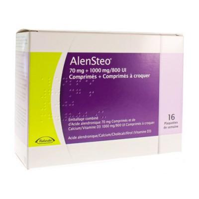ALENSTEO BLISTER 16 X (1 TABL 70MG+6X1000MG/800IE)