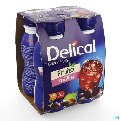 Delical Fruitdrink Druiven Nf 4x200ml