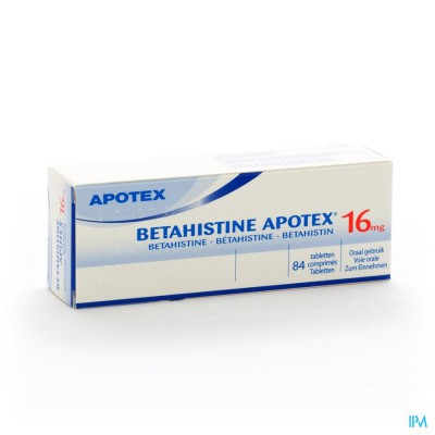 BETAHISTINE APOTEX 16 MG TABL. 84 X 16 MG