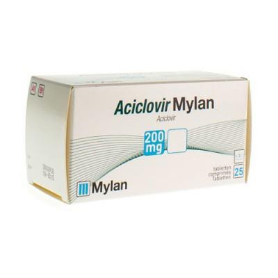 ACICLOVIR MYLAN 200 COMP 25 X 200 MG