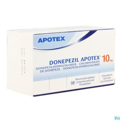 DONEPEZIL APOTEX 10,0 MG FILMOMH TABL 98 X 10,0MG