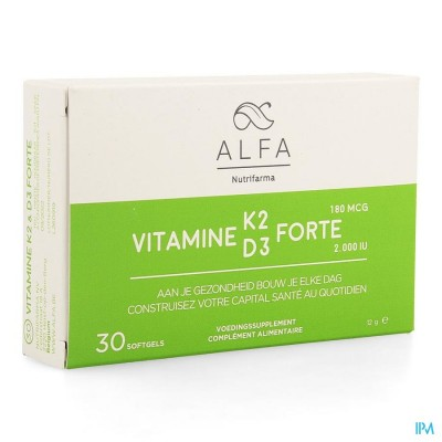 Alfa Vitamine K2 D3 Forte Softgel 30
