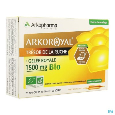 Arkoroyal Koninginnebrij Bio 1500mg Amp 20x10ml