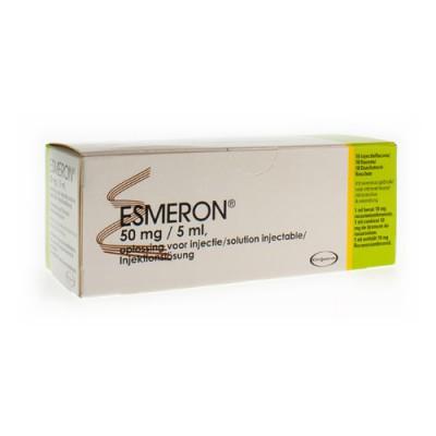 ESMERON 10X50MG/ 5ML FL 5 ML