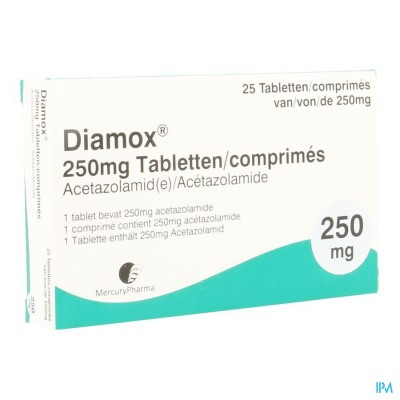 Diamox Comp 25x250mg