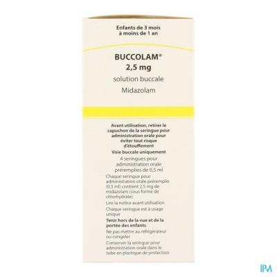 Buccolam 2,5mg Or Opl 4 Voorgev Dos Spuit 0,5ml
