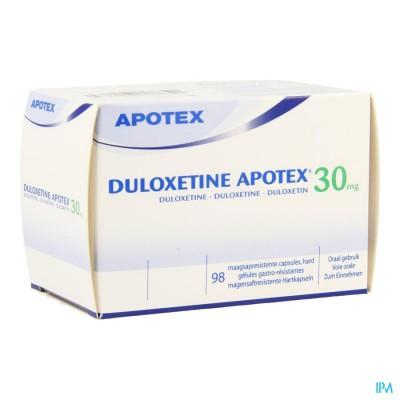 Duloxetine Apotex 30mg Maagsapresist. Caps 98
