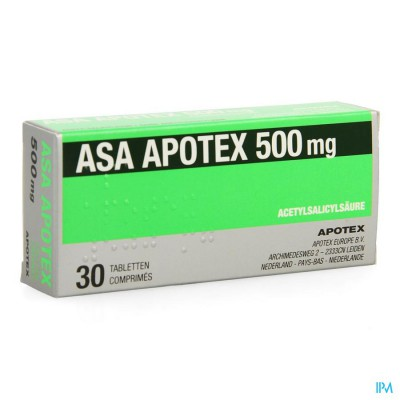 Asa Apotex 500mg Comp 30 X 500mg