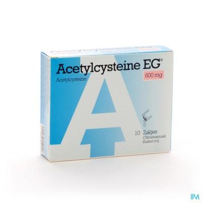 Acetylcysteine Eg Sach 10x600mg