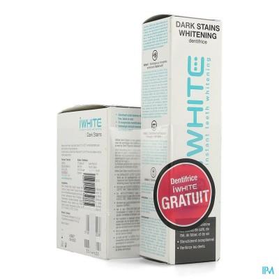 Iwhite Dark Stains 10 + Tandpasta Whitening 75ml