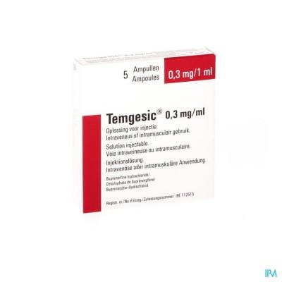 TEMGESIC AMP 5 X 0,3 MG/ML