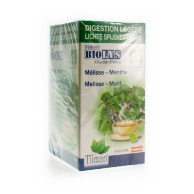 BIOLYS MELISSE-MUNT BIO TEA-BAGS 20
