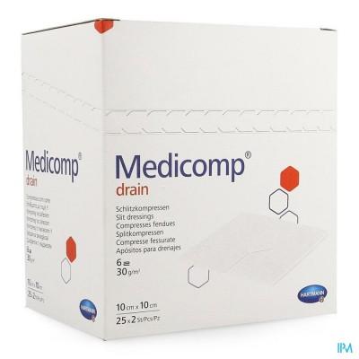 MEDICOMP DRAIN KP STER 10X10CM 25X2 4215353